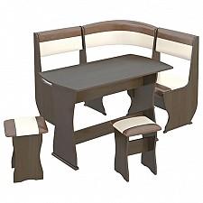 Набор кухонный Мебель Трия Уголок кухонный Уют-1 К Мини люкс венге/«Санчо»/коричневый