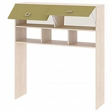 Надстройка для стола Тетрис ПМ-154.11 ясень белладжио/оливковый