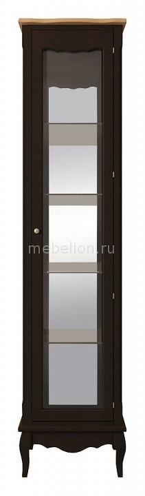 Купить Шкаф-витрина Leontina Black, Этажерка, Россия
