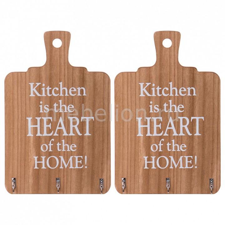 Вешалка настенная (18.6х29 см) Кухня - сердце дома 222-307