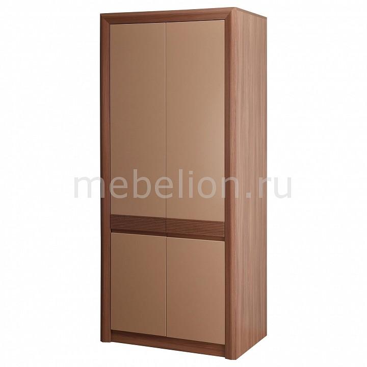Шкаф платяной Камелия-3 ясень шимо темный/капучино