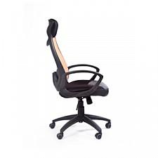 Кресло для руководителя Chairman 840 оранжевый/черный