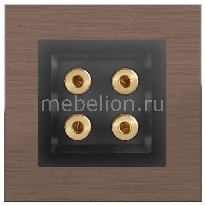 Розетка акустические Werkel Aluminium (Черный матовый) WL08-70-11+WL08-AUDIOx4 акустическая розетка werkel черный матовый wl08 audiox4
