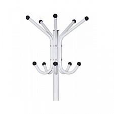 Вешалка-стойка Бюрократ CR-001 белый основание круглое металлическая H180 см, основ. D36см