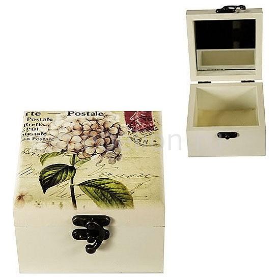 Шкатулка для украшений Акита (10.5х10.5 см)Прованс-AKI HL207D шкатулка для украшений акита 12х8 5 см прованс aki hl227c