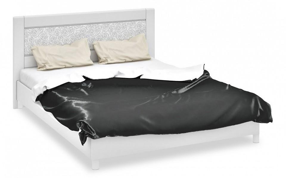 Кровать двуспальная ТриЯ Амели СМ-193.01.002 белый глянец спальня амели 3