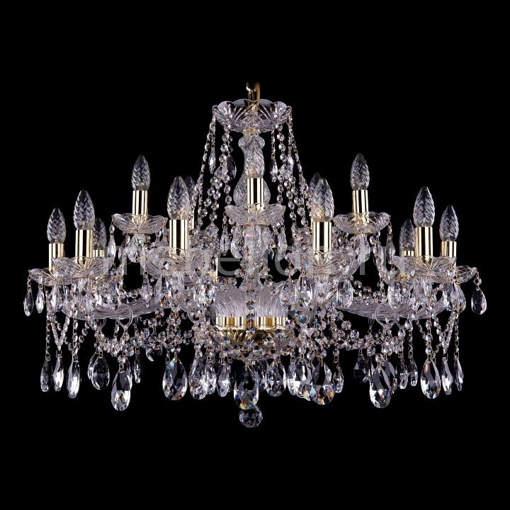 Подвесная люстра Bohemia Ivele Crystal 1413/10+5/300/G 1413