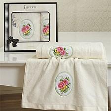 Набор из 2 полотенец для ванной AKADIA 2308/CHAR001