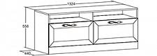 Тумба под ТВ Александрия 618.080 Кожа Ленто/Рустика