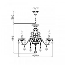 Подвесная люстра Maytoni ARM400-05-R Elegant 40