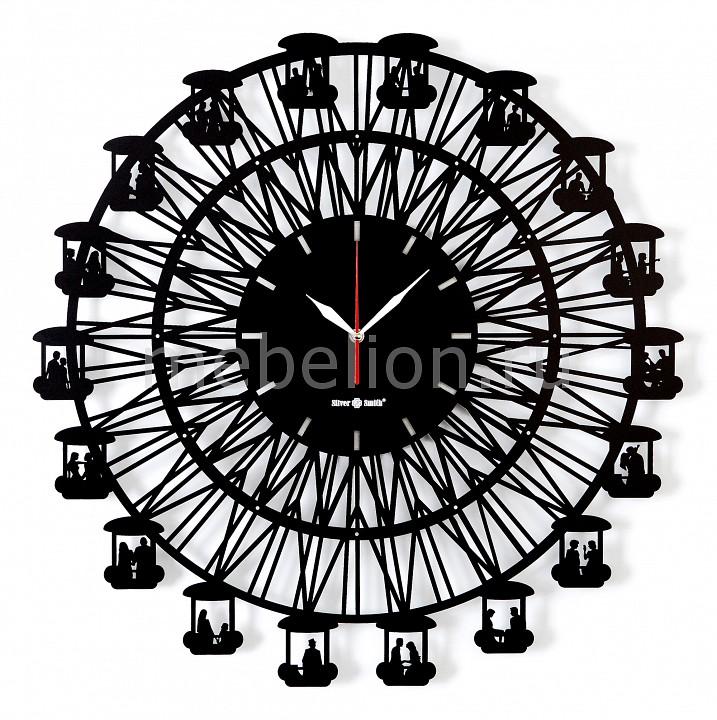 Купить Настенные часы (62.4 см) BIG WHEEL 04006bk1, Silver Smith, Россия, черный, металл