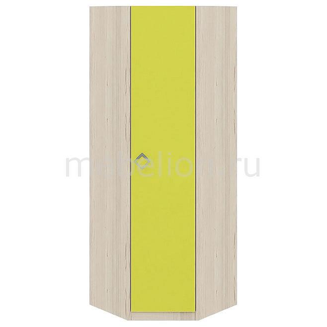 купить Шкаф платяной угловой Мебель Трия Аватар СМ-201.15.001 каттхилт/лайм по цене 11299 рублей