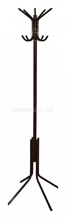 Вешалка-стойка Бюрократ CR-002 коричневый/металлик