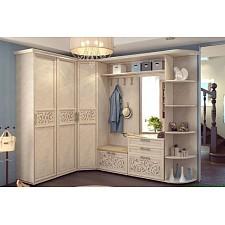 Карнизы для шкафа Александрия ЛД 125.170.000 левый кожа ленто