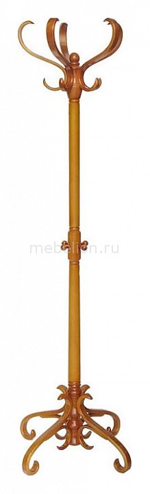 Вешалка напольная Мебелик Вешалка-стойка В-2Н светло-коричневая напольная вешалка для одежды мебелик в 2н