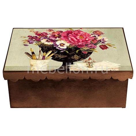 Шкатулка декоративная (26х18х13 см) Пионы 1826-8