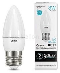 Лампа светодиодная Gauss 332 E27 180-240В 8Вт 4100K 33228