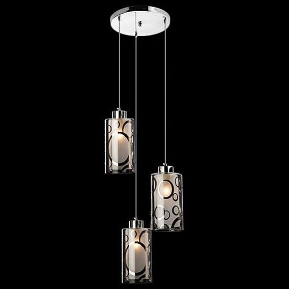 Подвесной светильник Eurosvet 50000/3 хром подвесная люстра eurosvet 50000 3 хром