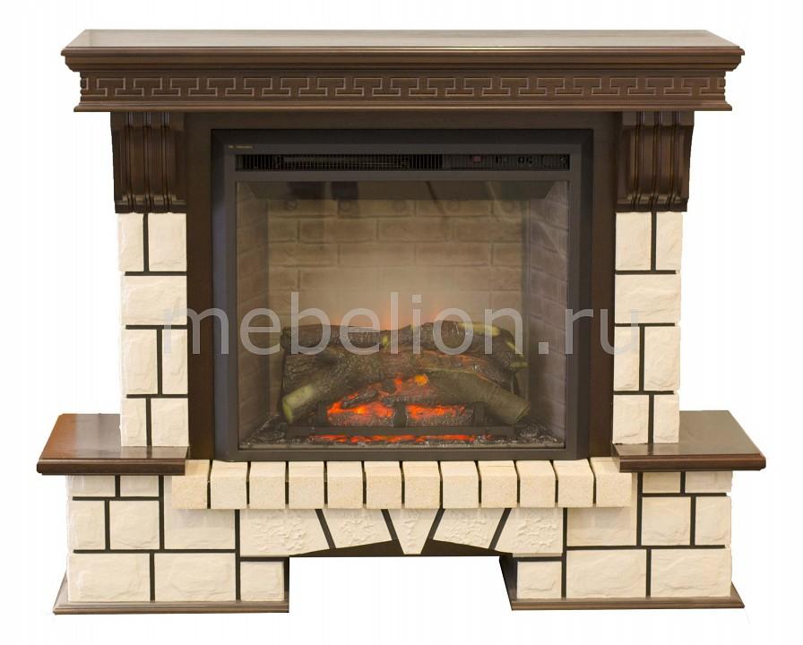 Купить Электрокамин напольный (143х43х105.8 см) Stone New 00010010206, Real Flame, Россия, античный дуб, белый, железо, МДФ, шпон