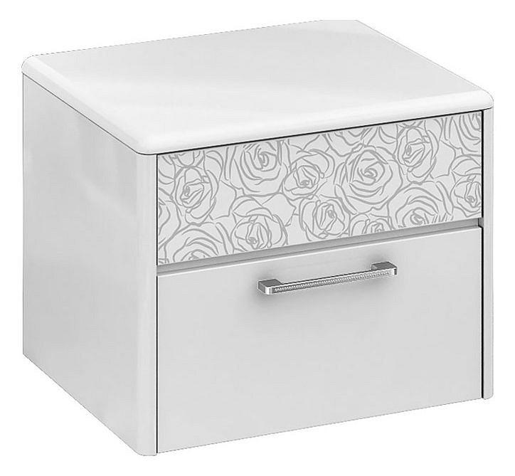 Тумбочка Мебель Трия Амели ТД-193.03.01 белый глянец cтенка для гостиной трия вега тд 196 01 венге линум белый глянец