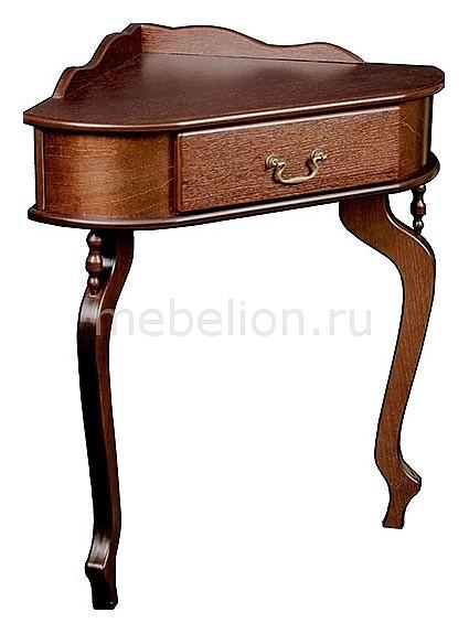 Консоль угловая Берже 10 темнокоричневый mebelion.ru 8330.000