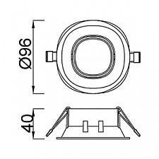 Встраиваемый светильник Mantra C0161 Comfort