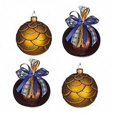 Набор елочных шаров АРТИ-М Набор из 4 елочных шаров (7.5 см) Кураж 860-513
