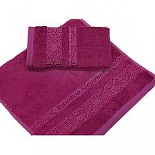 Банное полотенце TAC Bamboo elegance темно-сиреневое 0916-84121