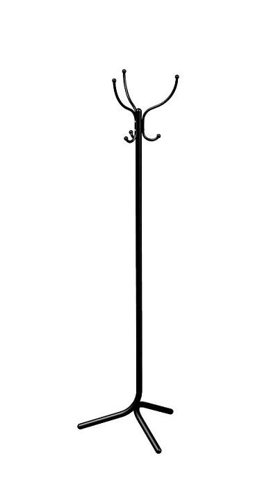 Вешалка напольная Мебелик Вешалка-стойка М-1 черный цена и фото