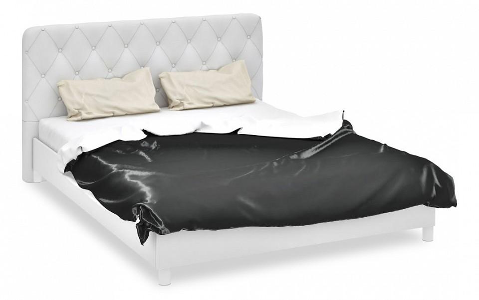 Кровать двуспальная Мебель Трия Амели СМ-193.01.004 белый глянец/белый спальня амели 3