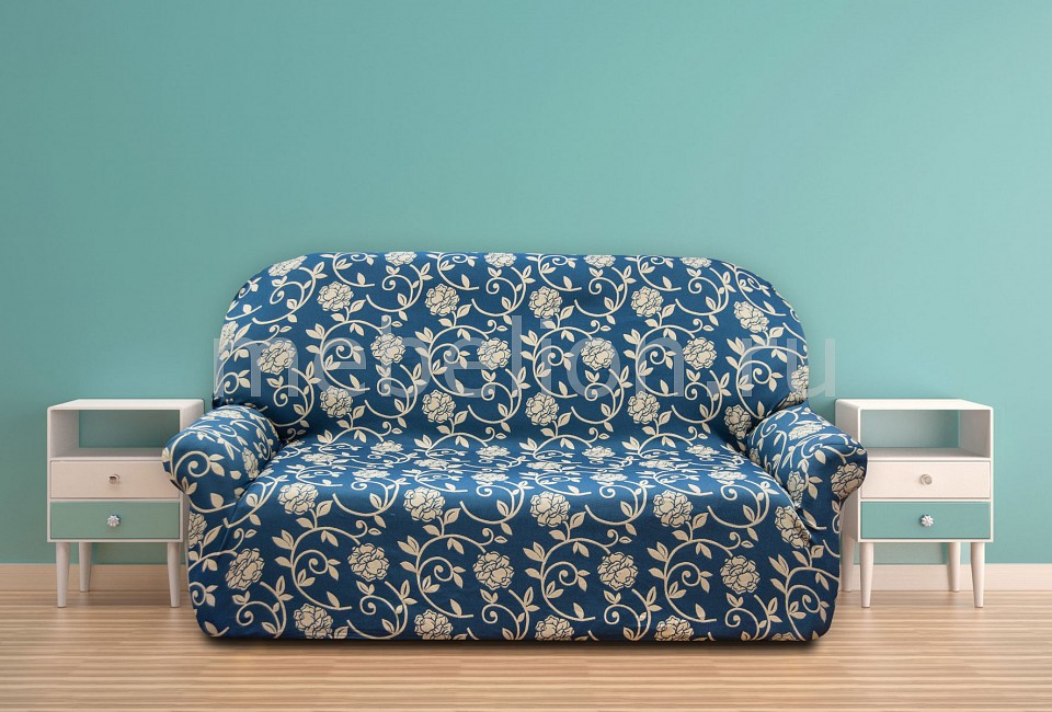 Купить Чехол для дивана АКАПУЛЬКО, Belmarti, Испания, синий, полиэстер 60%, хлопок 35%, нейлон 5%