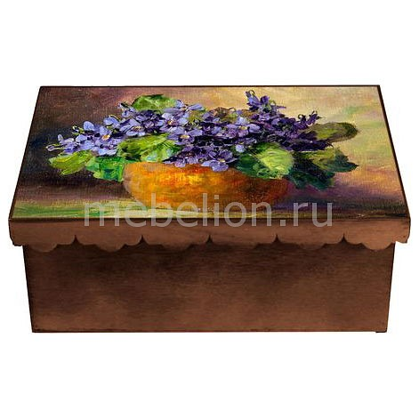 Шкатулка декоративная Фиалка 1826-7