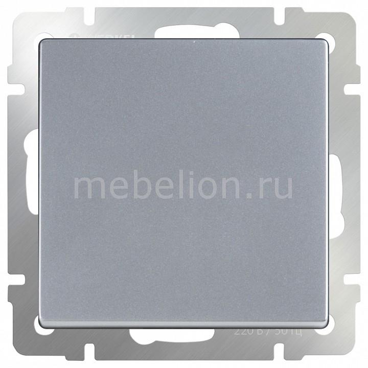 Выключатель проходной одноклавишный без рамки Werkel Серебряный WL06-SW-1G-2W бра colosseo susanna 80311 2w
