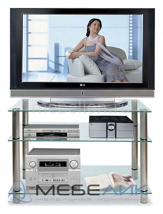 Подставка для ТВ ТВ-3.100 металлик/прозрачное mebelion.ru 9220.000