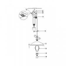 Подвесной светильник Globo 6905Z Sassari