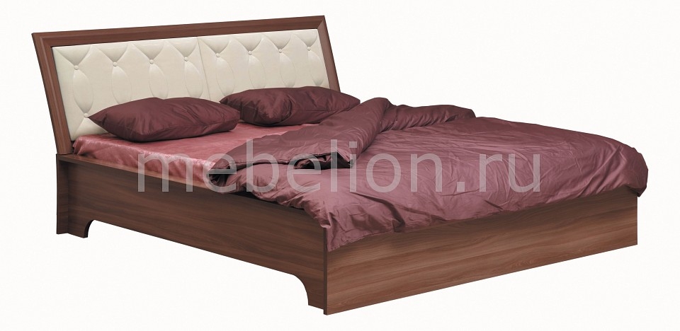 Кровать двуспальная Камелия 06.200 ясень шимо темный/капучино