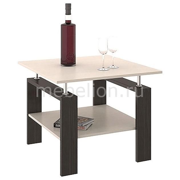 Стол журнальный Мебель Трия Тип 2 венге цаво/дуб молочный полка навесная мебель трия тип 1 венге цаво дуб молочный