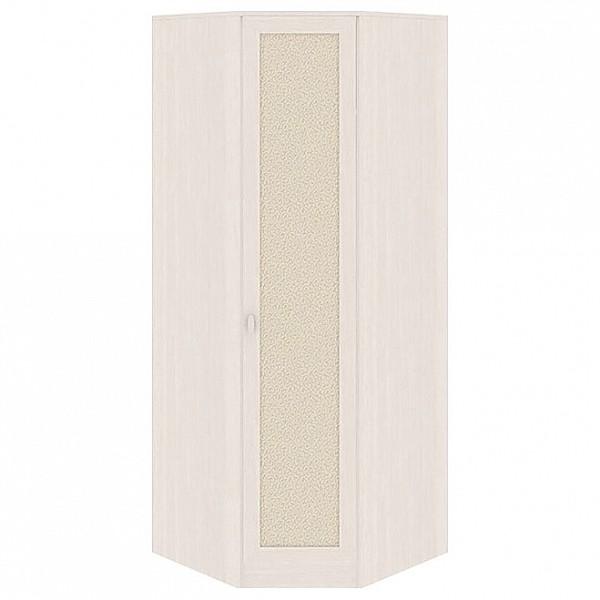 Шкаф платяной угловой Сакура СМ-183.07.006 дуб белфорт/дуб белфорт/кожа Лара светлая