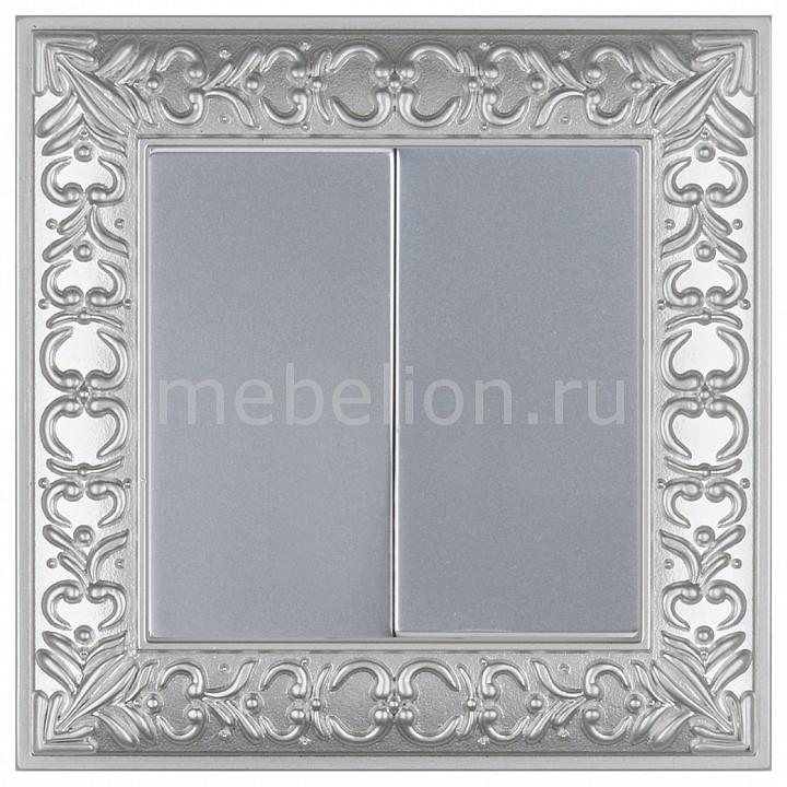 Выключатель двухклавишный Werkel Antik (Серебряный) WL06-SW-2G-LED+WL06-SW-2G benks tempered glass for xiaomi 5 2 5d radians screen protector