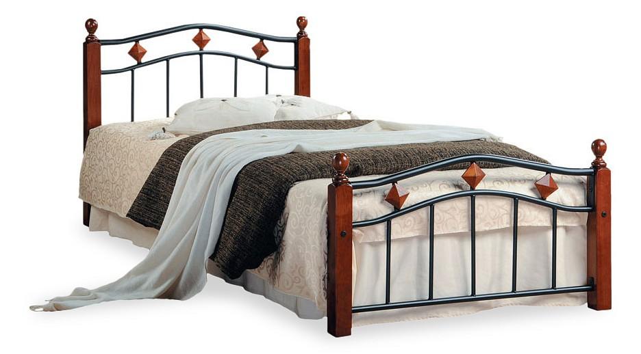 Кровать односпальная Tetchair AT-126 tetchair кровать tetchair at 126 queen 1600 х 2030 гевея металл без матраса