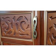 Дверь раздвижная Александрия 125.003 с зеркалом орех