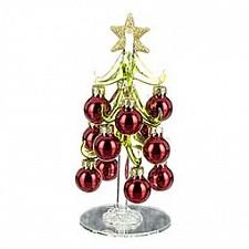 Ель новогодняя с елочными шарами (15 см) ART 594-003