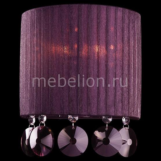 Накладной светильник Eurosvet 3153/2 хром/гранатовый хрусталь Strotskis