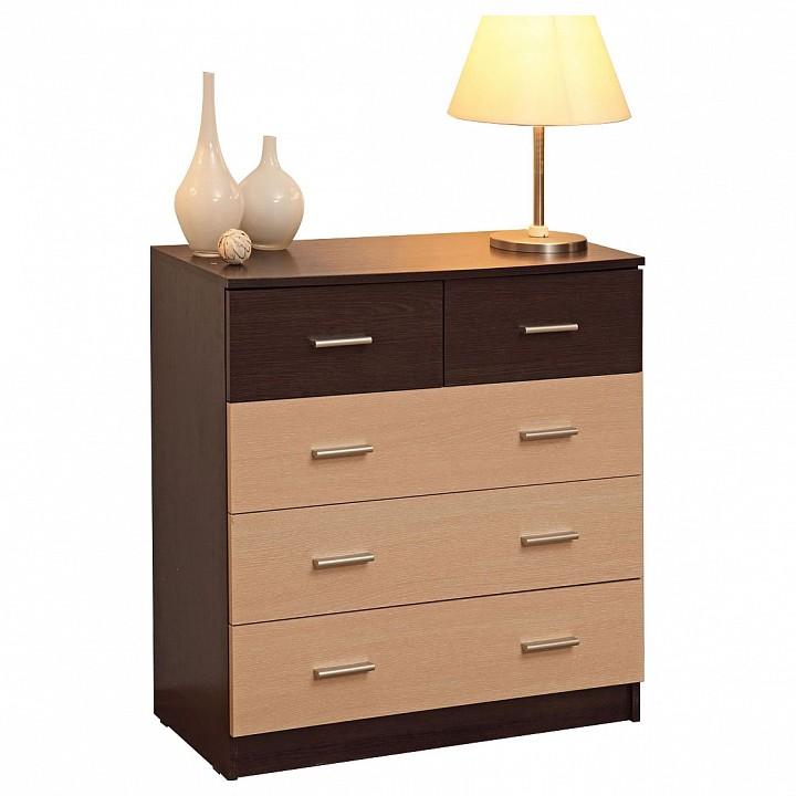 Комод Олимп-мебель Дуэт-12 венге/дуб линдберг олимп мебель комод карло м10 венге дуб линдберг