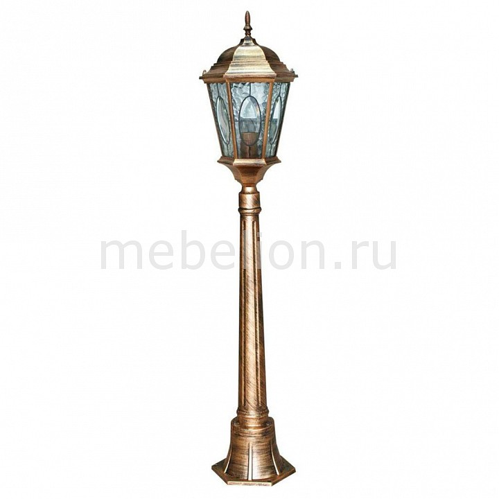 Наземный высокий светильник Витраж с овалом 11323