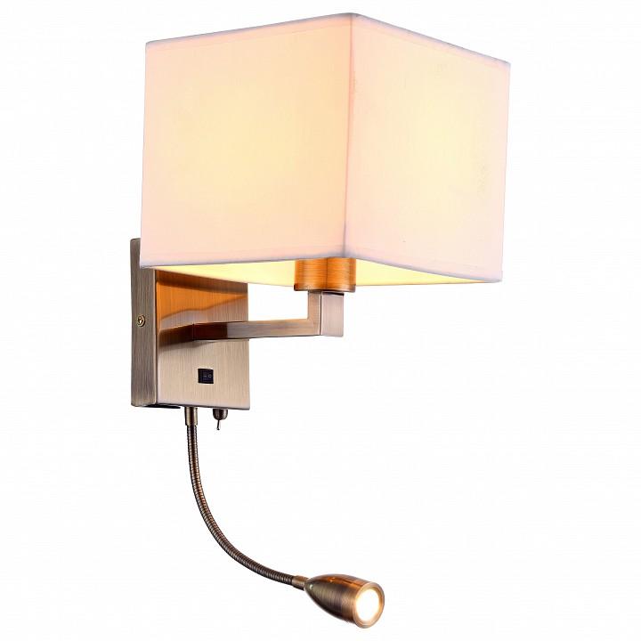 Бра с подсветкой Arte Lamp Hall A9249AP-2AB бра arte lamp hall a9249ap 2ab