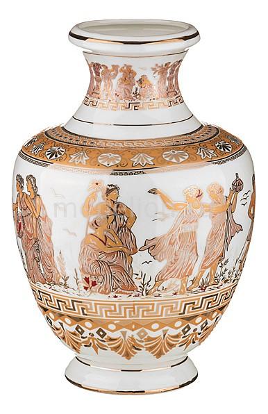 Ваза настольная АРТИ-М (40 см) Белая Греция 54-285 арти м ваза напольная 60 см белая греция 54 275