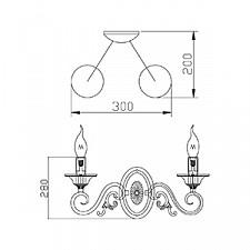 Бра Maytoni ARM337-02-R Elegant 46