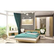 Гарнитур для спальни Ирма 11 дуб сонома/белый глянец