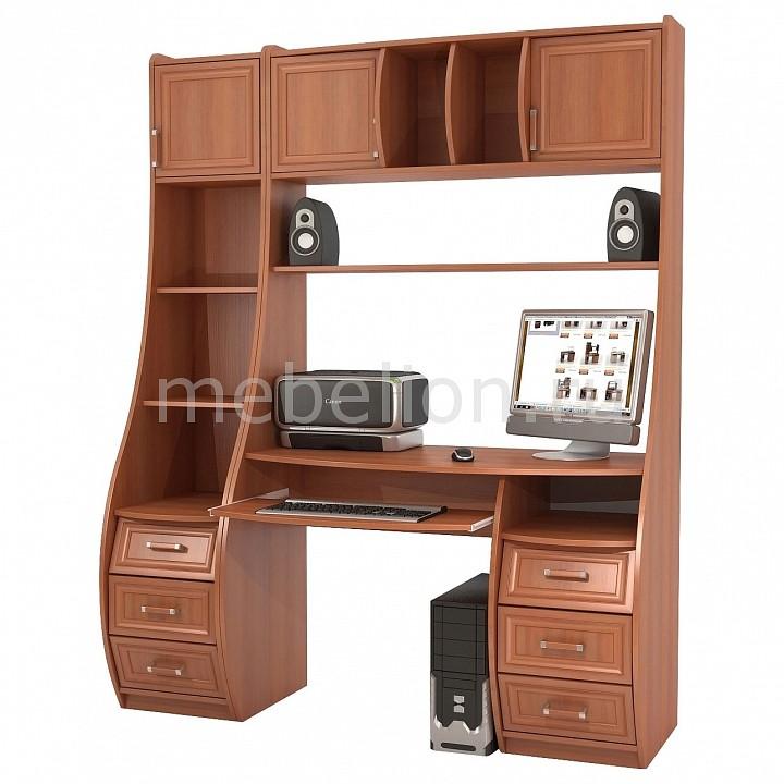 ТД Ная Стол компьютерный Беркут КС-1К+Триумф СФ-433Д вишня оксфорд